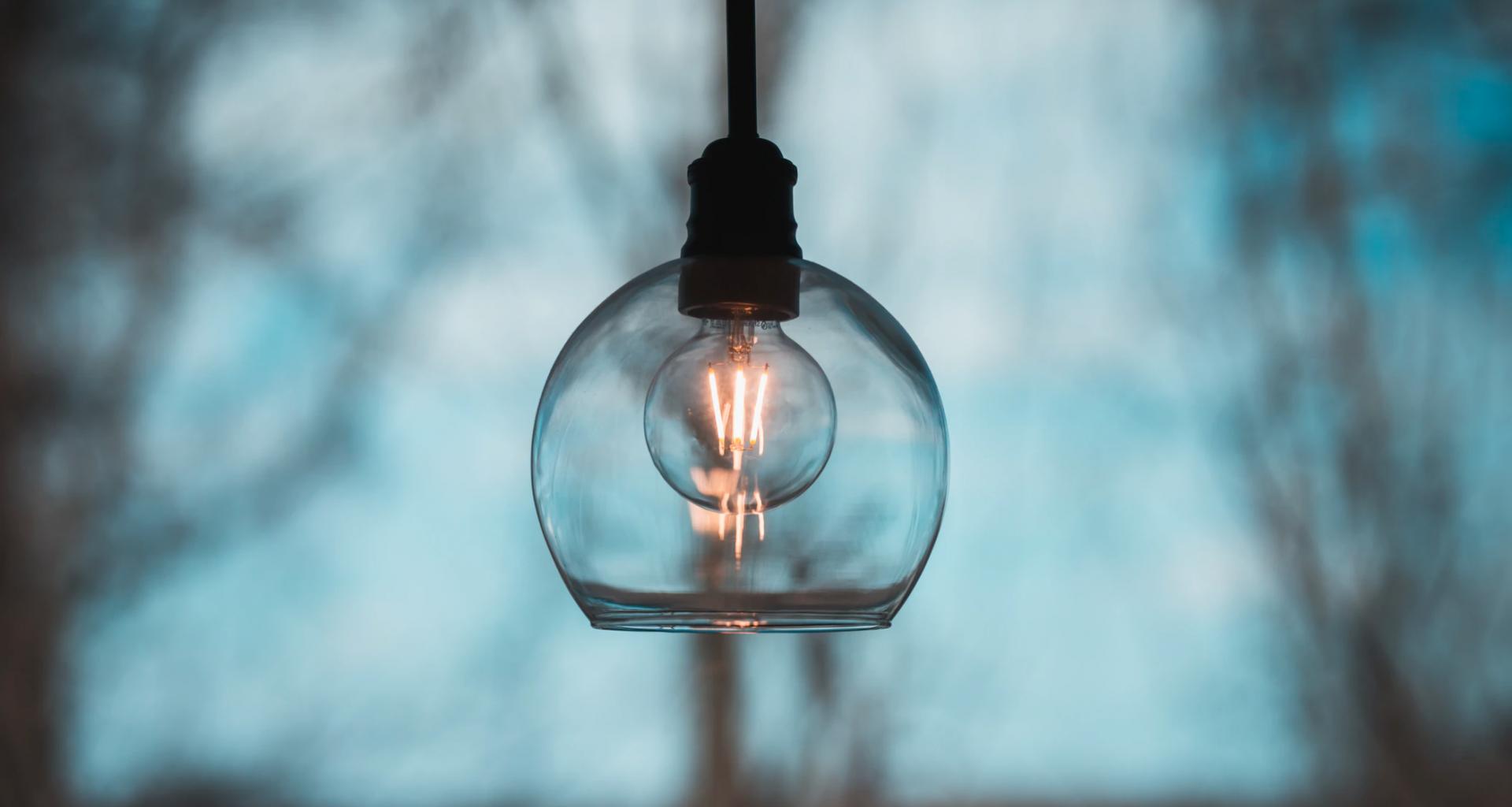Lámpara encendida